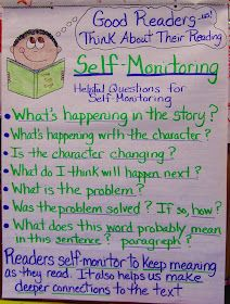 Good anchor chart about self monitoring.