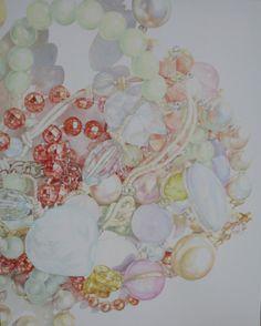 "Saatchi Online Artist: YOONKYUNG KIM; Oil 2013 Painting ""My strange still life painting"""