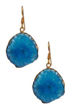 Genuine Freeform Druzy Agate Earrings
