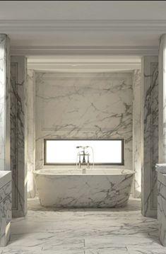 Bathroom Done with all Marble #LuxuryBathroom www.OakvilleRealEstateOnline.com