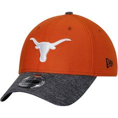 Texas Longhorns New Era Team Shaded 39THIRTY Flex Hat - Texas  Orange Charcoal 6bde63b317d