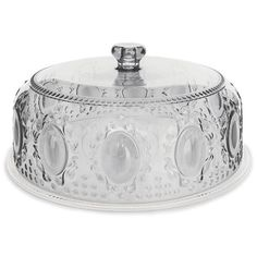 Baci Milano Clear Acrylic Cake Platter with Dome 32cm