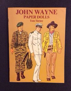 JOHN WAYNE PAPER DOLLS Book UNCUT Tom Tierney 1981 Dover The DUKE #DoverPublications