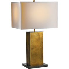 Visual Comfort Thomas Ou0027Brien Dixon Tall Table Lamp In Hand Rubbed Antique  Brass