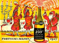 A festive image by Edward Bawden for Fortnum & Mason. Find out more... http://allthingsconsidered.co.uk/2015/12/edward-bawden-christmas.html