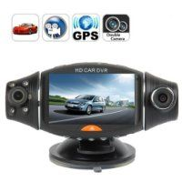 2.7 TFT LCD Dual Camera Rotated Lens Car DVR Video Recorder Dash CamFREE 32GB