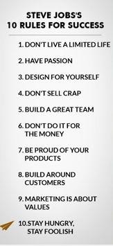 Rules for success: Steve Jobs