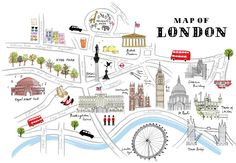 map of London drawing by Alice Tait