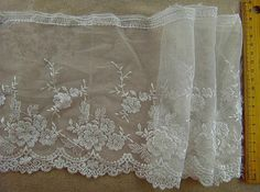 Lace trim White Embroidered Lace Trim DIY Handmade Accessory 6.69 inches wide. 2 yards A1046. $5.99, via Etsy.