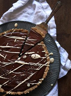 Chilled Chocolate Espresso Torte with Toasted Hazelnut Crust, from Oh She Glows...someone please make me one  ASAP!