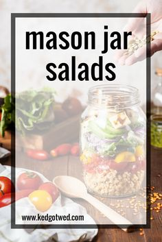 I so want to try this!  behind the scenes of a newbie's first attempt at mason jar salads