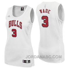 http://www.jordanabc.com/dwyane-wade-chicago-bulls-3-new-swingman-home-white-women-jersey-on-sale.html DWYANE WADE CHICAGO BULLS #3 NEW SWINGMAN HOME WHITE WOMEN JERSEY ON SALE Only $74.00 , Free Shipping!