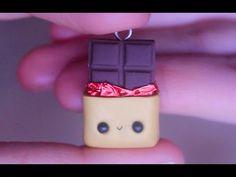 Kawaii Chocolate Bar polymer clay charm tutorial ✿