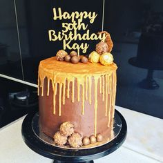 Chocolate and Hazelnut cake with Gold drip