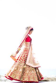 Red and Gold Manish Malhotra Bridal Lehenga Indian Bridal Outfits, Indian Bridal Wear, Indian Dresses, Bridal Dresses, Indian Wear, Manish Malhotra Bridal Lehenga, Indian Bridal Lehenga, Bridal Lenghas, Bollywood Lehenga