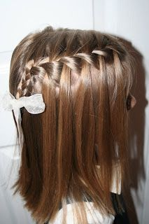 A French waterfall braid is absolutely perfect for your little girl's hair.