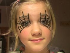 Image result for spider web makeup for kids