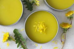 Rich in anti-inflammatory antioxidants, polyphenols and flavonoids, this dandelion salve works beautifully as an all-purpose healing balm for cuts, scrapes, burns, bug bites, chapped skin and more.