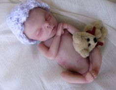 Ooak, Miniature, Hand sculpted, Newborn baby Art Doll,