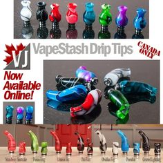 MADE IN CANADA: Stunning VapeStash Drip Tips - Now Sold Online!