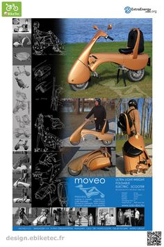eBikeTec design contest public voting project: moveo name: Slezak Tamas Scooter Design, Electric Scooter, Cool Things To Buy, Clever, Public, Tech, Inspire, Artists, Cool Stuff