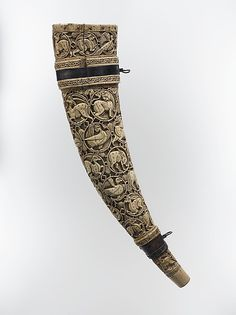 Horn (Oliphant) with Leather Case  Date: horn 11th–12th century, case 16th century Culture: South Italian