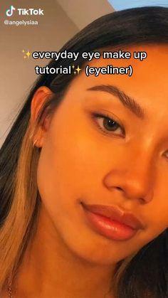 Edgy Makeup, Baddie Makeup, Cute Makeup, Simple Makeup, Natural Makeup, Makeup Hacks Videos, Makeup Tips, Eyeliner, Eyebrows