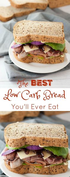 The Best Low Carb Bread you'll Ever Eat - Peace Love and Low Carb via @PeaceLoveLoCarb