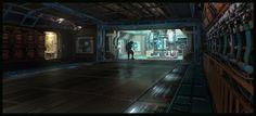 sci-fi corridor by guchi.deviantart.com on @DeviantArt