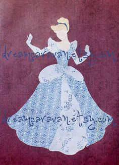 My favorite princess!    READY TO SHIP Paper Princess Cinderella by dreamcaravan on Etsy