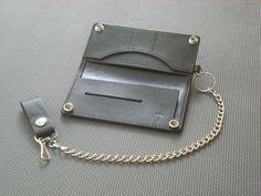 Handmade Leather Long Bifold Biker Wallet от KDAsadaStudio, $60.00