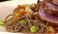 Soba Noodles with Edamame and Peanuts : Food : The Home Channel