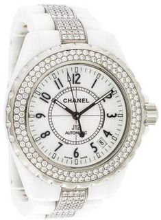 67ca089f509 Chanel J12 Watch White ceramic and stainless steel 38mm Chanel J12 watch  featuring an automatic movement