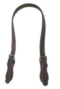 Asa para bolso de cuero 100% con hevillas 62x1.8cm marrón: Catálogo de Planas & Linares