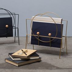 Anna is rather fond of this magazine holder because it combines a wealth of geometric shapes with a dash of gold. Magazine holder, also available in the colour black. Price per item DKK 98,00 / EUR 13,77 / ISK 2290 / NOK 136,00 / GBP 13,33 / SEK 138,00