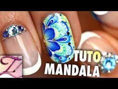 Tuto nail art flammes one stroke abstrait - YouTube