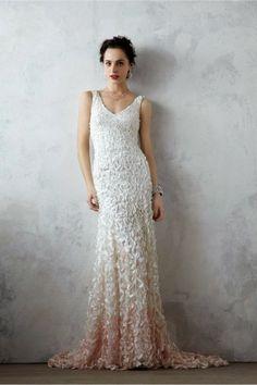 ccaea0f5dc620 Best Of  Wedding Gowns blush white wedding dress from BHLDN Robes De Mariée  De