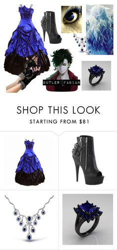 """Laura Lovecraft: Black Butler OC"" by madnessismymiddlename ❤ liked on Polyvore featuring beauty, Pleaser and Bling Jewelry"