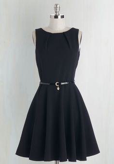 Fit & Flare - Luck Be a Lady Dress in Black