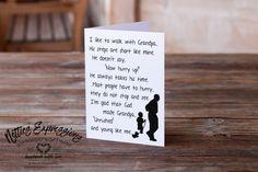 I like to walk with Grandpa - Birthday Card Handmade Greetings, Greeting Cards Handmade, Like Me, Love You, My Love, Grandpa Birthday, Fathers Day Gifts, Card Stock, Birthday Cards