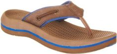 Sperry Intrepid Kids Thong Sandals For Boys CIGAR BROWN/BLUE 3 M Youth Sperry Top-Sider. $19.99