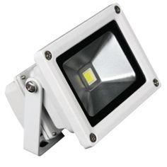Lunasea Outdoor LED Flood Light - 85-265VAC/10W/900 Lumens - Cool White