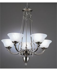 Forecast Lighting F605-40 Indulgence Collection 5 Light Chandelier in Antique Silver Finish