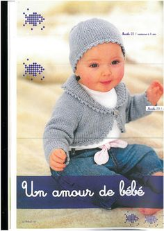 Photo: Knitting For Kids, Baby Knitting, Knitted Baby Outfits, Album, Pattern Books, Baby Wearing, Pulls, Clothing Patterns, Free Pattern