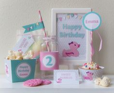 Pink Rubber Duck - Food Labels / Tent Cards - Birthday Girl - Printable - psDre Party Printables