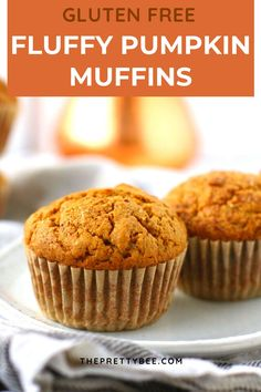 It's pumpkin season! And you need the perfect gluten free pumpkin muffin recipe. This is it! These are delicious and tasty - perfect for breakfast or dessert. #pumpkin #muffins #glutenfree #dairyfree