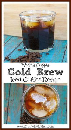 Looking for Best Coffee for Cold Brew- Here's my recipe! Super simple recipe for making a whole weeks worth of perfect iced coffee homemade. You can even make iced coffee Starbucks style at home. Homemade Iced Coffee, Cold Brew Coffee Recipe, Cold Brew Iced Coffee, Starbucks Iced Coffee, Coffee Drinks, Healthy Starbucks, How To Make Ice Coffee, Non Alcoholic Drinks, Beverages