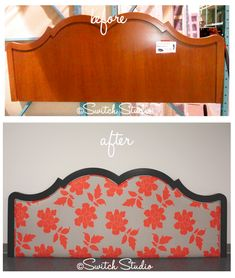 Furniture Projects, Furniture Making, Diy Furniture, Headboard Makeover, Furniture Makeover, Reupholster Furniture, Furniture Upholstery, Contemporary Headboards, Do It Yourself Design