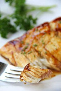 Balsamic-Glazed Halibut recipe