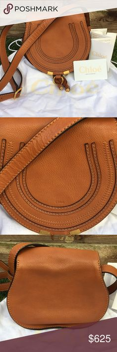 Chloe Marcie SaddleBag, mini Pristine condition, authentic, no signs of wear on exterior leather or cloth interior. Comes with authenticity cards and dustbag.  Personally owned by me, this is my go to bag, just upgraded and looking for a new home for this gem!!!! Chloe Bags Crossbody Bags